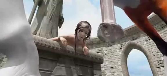 Lara With Horse 2 / Zoo Tube 1
